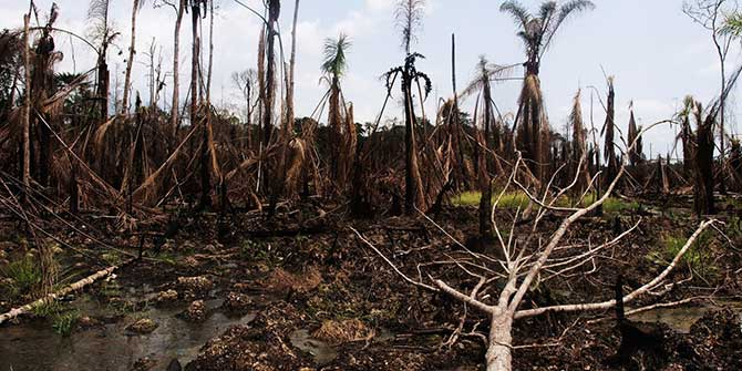 Oil pollution in the Niger Delta Credit: Sosialistisk Ungdom.