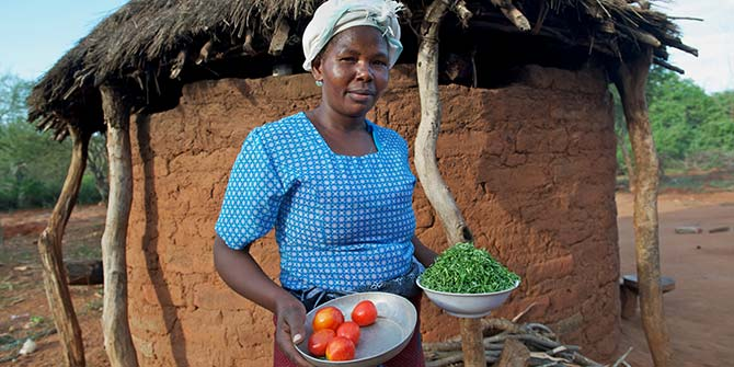 Emily Mbithuka and her family are small-scale farmers in KenyaPhoto: Annie Bungeroth/ CAFOD, May 2012