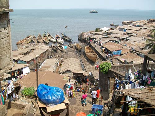 Susan's Bay is one of Freetown's coastal slums Photo Credit: Charles and Petra Wirrell