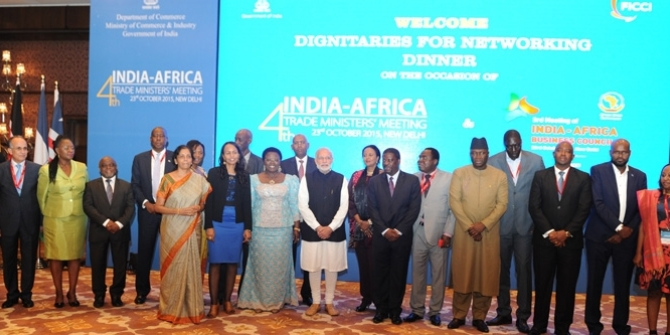 IAFS meeting between Modi and African trade ministers Photo Credit: Narendra Modi/Wikimedia Commons CC BY-SA 2.0