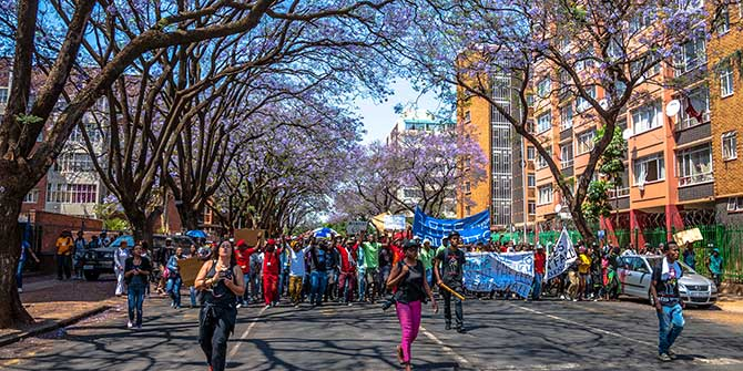 Students march in a #FeesMustFall demonstration in Pretoria Credit: Paul Saad via Flickr (http://bit.ly/1PAjeWV) CC BY-NC-ND 2.0