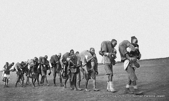 Carrying the wounded