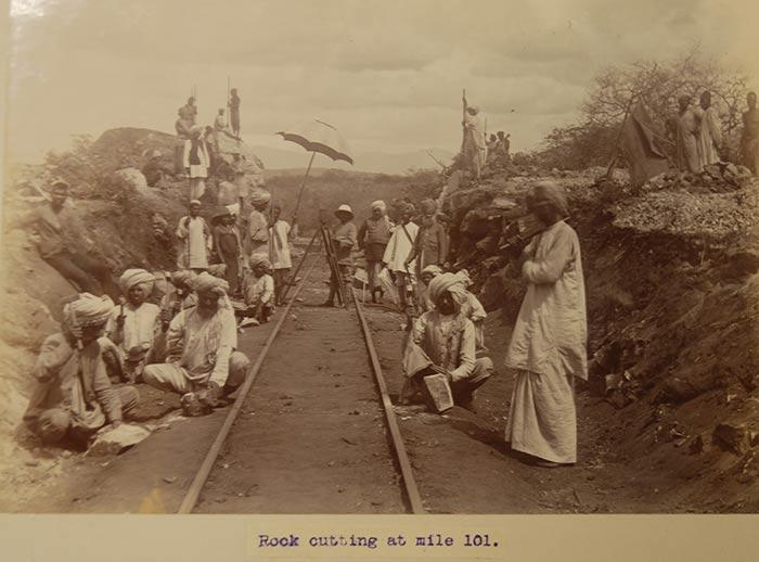 Indian master masons constructing the Uganda Railway (CO 1069/185, TNA