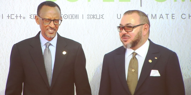 King Mohammed VI of Morocco (pictured here with President Kagame of Rwanda) is keen for his country to rejoin the African Union Photo Credit: Ministry of Natural Resources, Rwanda via Flickr (http://bit.ly/2jZ7H88) CC BY-ND 2.0