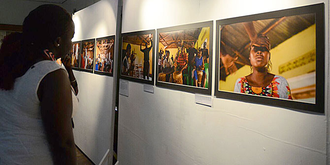 Picture from the Enduring Exile exhibition in Uganda