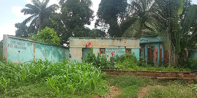 Muslim houses left abandoned near to Bangui's 3rd district, Central African Republic