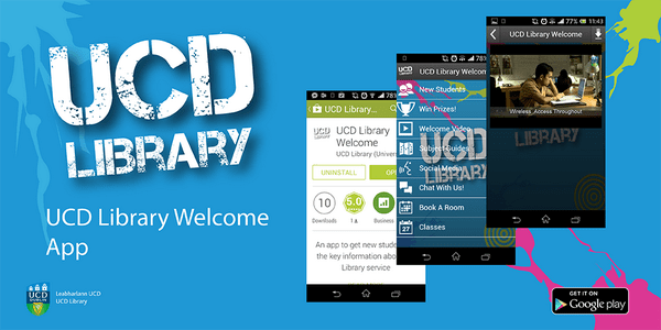 ucd library welcome app in google play store