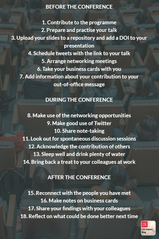 How to Get The Most of an Academic Conference - MethodSpace