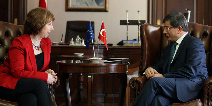 Catherine Ashton & then Foreign Minister of Turkey Ahmet Davutoğlu, 2013.