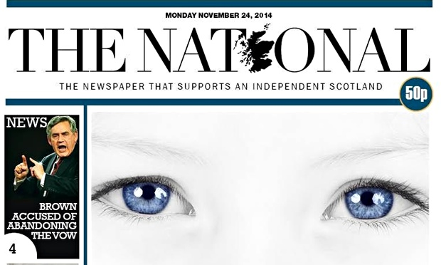 The National's first front page