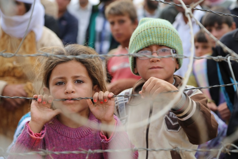 Six year old Shereen and eight year-old Mohammed