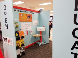 Open Education Week exhibit