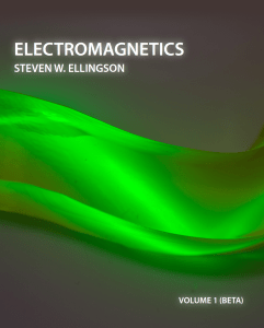 Cover image of Electromagnetics textbook