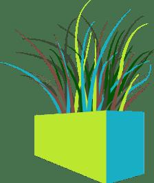 GrassSquarePlanter