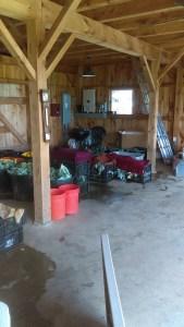Barn room this past Wednesday before pickup...Got veggies?