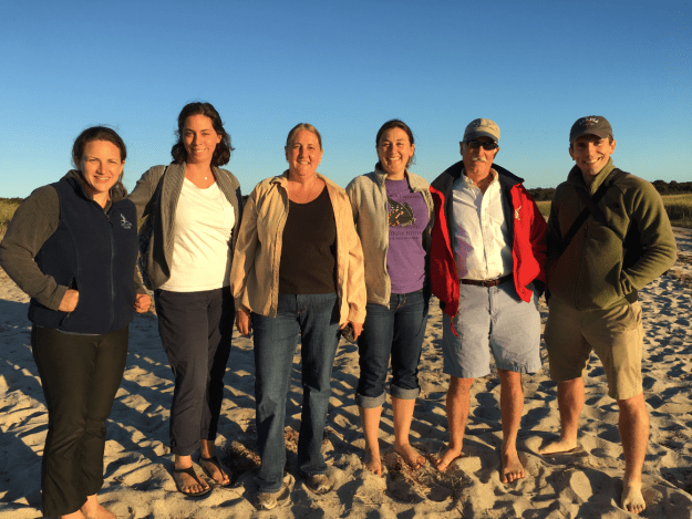 Advocacy Department staff on our visit to Monomoy. From left: Karen Heymann, Christina Wiseman, Heidi Ricci, Stefanie Covino, Jack Clarke, and Dan Brown