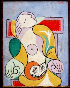 "Pablo Picasso's abstract painting, entitled ""La Lecture"""