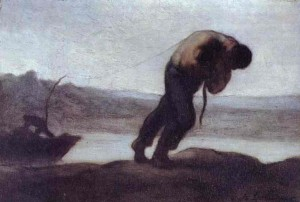 Feeling discouraged? Me too! The hauler of a boat, by Honoré Daumier.  Image from wikigallery.org