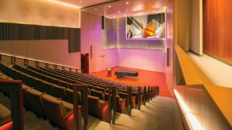Recital hall at Ellis Hall