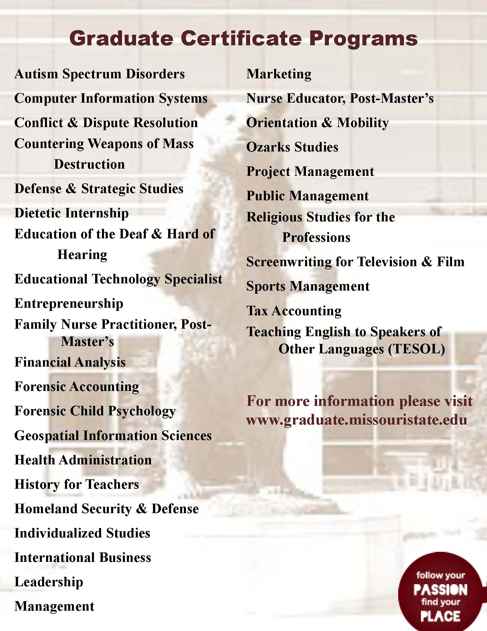 Graduate Certificate Programs Graduate College Blog