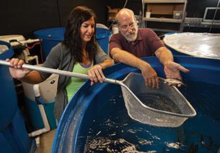 Madeline Pletta and Dr. Chris Barnhart