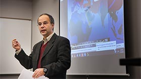 Dr. Romano in the classroom