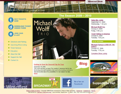 Hammons Hall web site preview