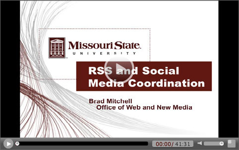 RSS and Social Media Coordination