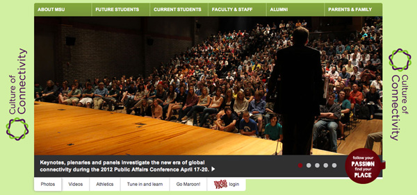 Missouri State homepage feature for the Public Affairs Conference