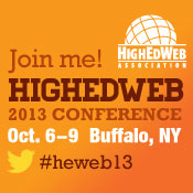 HighEdWeb 2013 Conference, Buffalo, New York, Oct. 6-9