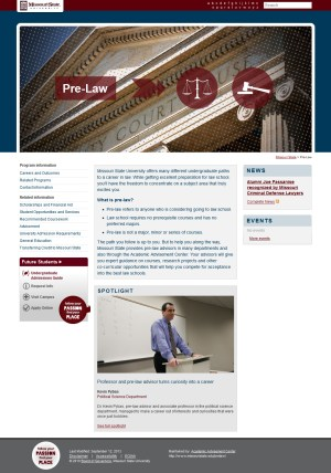 Pre-Law website