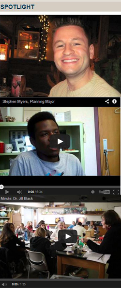An alumni, student and faculty profile-- told through text, photo and video