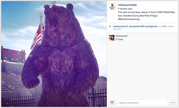 Bronze Bear by Plaster Stadium