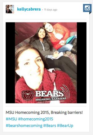 Homecoming selfie