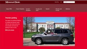 Valet parking homepage