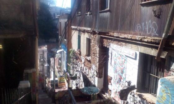 Straßenbild von Valparaiso
