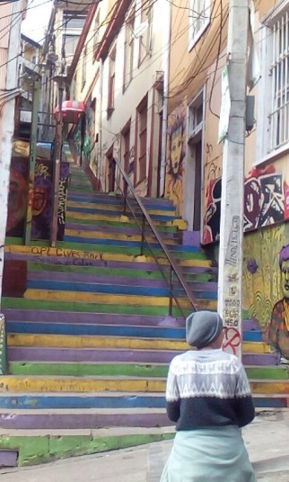 Eine der zahlreichen Treppen