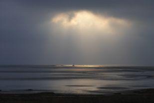 Sonnenspot auf Kutter (Foto: Tore J. Mayland-Quellhorst).