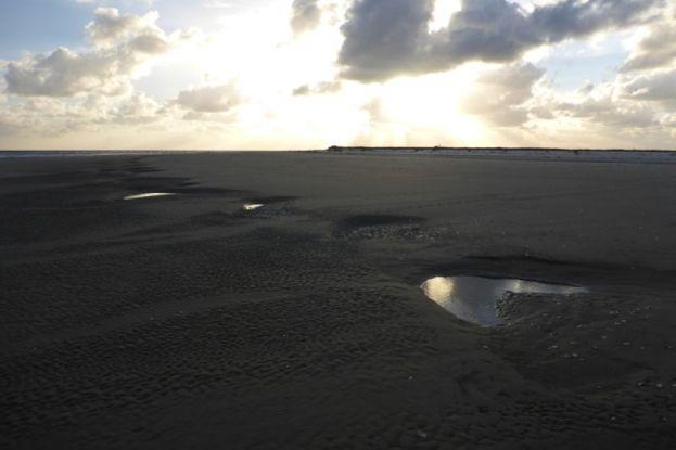 Parabelförmige Rippeln am Strand (Foto: Tore J. Mayland-Quellhorst).