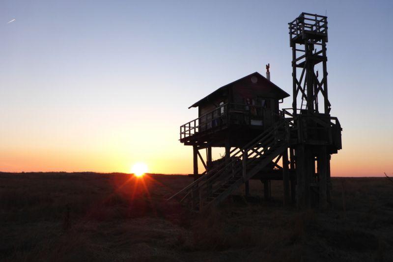 Das neue Heim im Sonnenuntergang (Foto: Tore J. Mayland-Quellhorst).