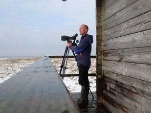 Beobachtung des Vogelzugs vor der Insel (Foto: Jonas Kotlarz)
