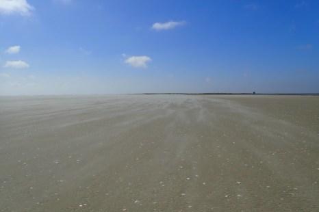 Sand weht auf der Südspitze (Foto: Jonas Kotlarz)