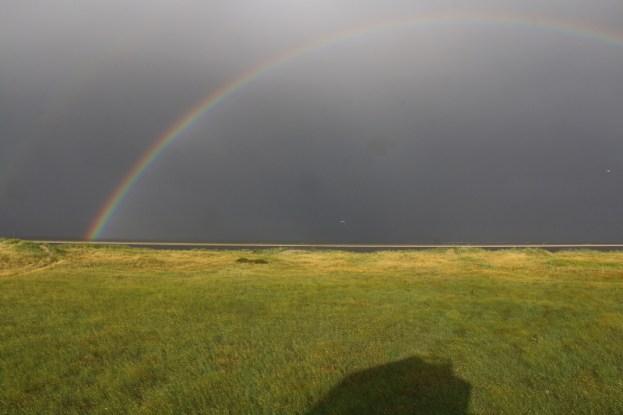 Regenbogen über Trischen (Foto: Jonas Kotlarz)
