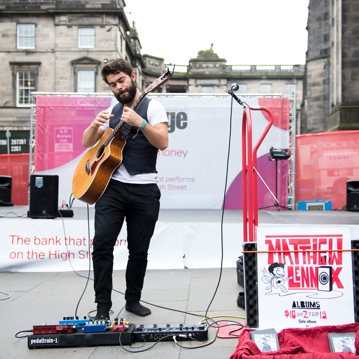 Edinburgh Fringe street action