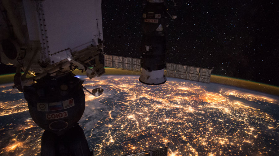 Night time View of Western Europe