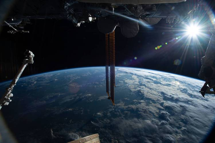 A view from the International Space Station taken Feb. 21, 2019.