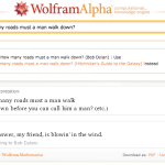 Wolfram Alpha's humor