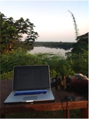 Totally worth tolerating the mozzies and black flies for this blogging spot.