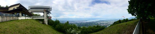 The view of Geneva from Mount Saleve in France