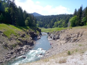 "Scouting ""That Dam Rapid"", a class IV rapid formed when the Elwha dam was removed"
